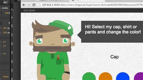 Select path of you image (click on it). Interactive SVG (Adobe Edge Animate Online Week, Episode ...