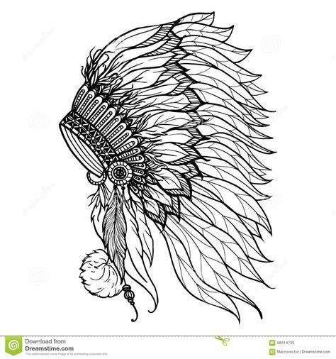 headdress cartoons illustrations vector stock images