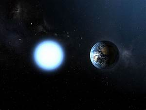 Artist's impression of the sizes of Sirius B and the Earth ...