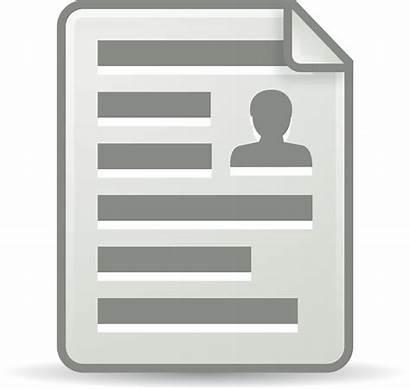 Document Clipart Clip Transparent Resume Office Vector