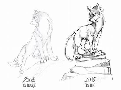 Before Progress Drawings Artist Drawing Hours Minutes