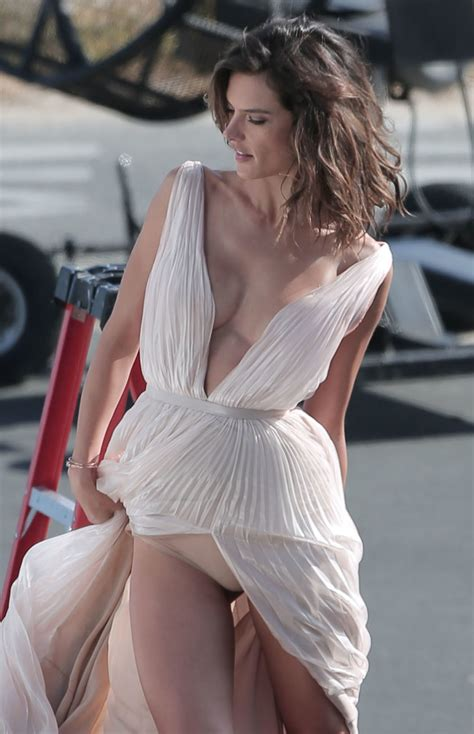 Alessandra Ambrosio Lets It All Hang Out As She Suffers An Embarrassing Nipple Slip During A