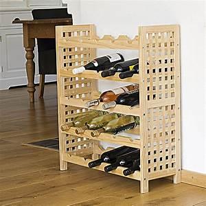 Meuble A Bouteille : meuble range bouteilles en noisetier maison fut e ~ Dallasstarsshop.com Idées de Décoration