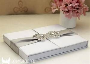 elegant wedding invitations in a box listmachineprocom With wedding invitation round box