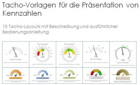 tachometer visualisierung von kennzahlen powerpoint