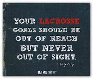 Motivational La... Good Lax Goalie Quotes