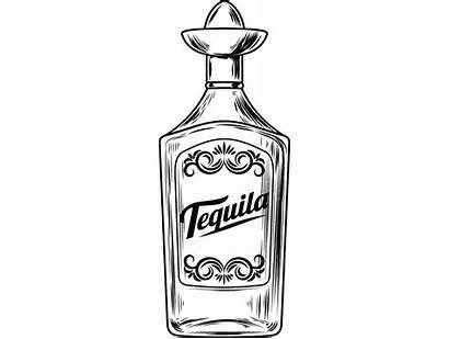 Tequila Bottle Svg Liquor Alcohol Sombrero Bar