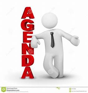 3d Business Man Presenting Concept Of Agenda Stock Vector ...
