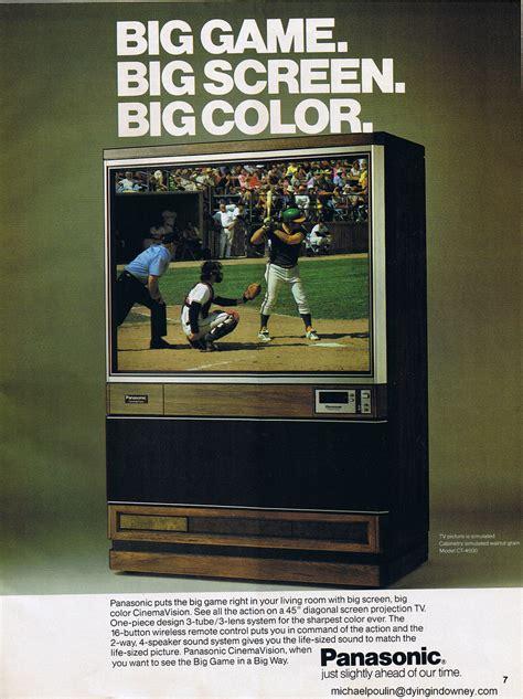 panasonic big screen tv ad swapmeet thursdays scan
