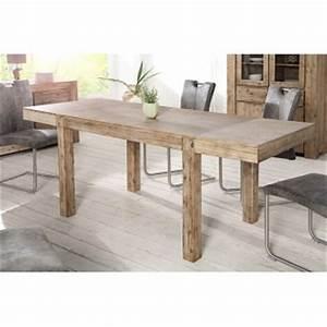TABLE REPAS EN BOIS MASSIF ROYALE DECO