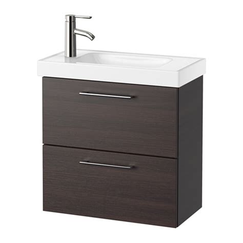 Ikea Sink Cabinet With 2 Drawers by Godmorgon Hagaviken Sink Cabinet With 2 Drawers Black