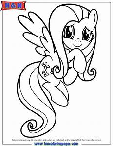 Friendship Is Magic Fluttershy Coloring Page H U0026 M
