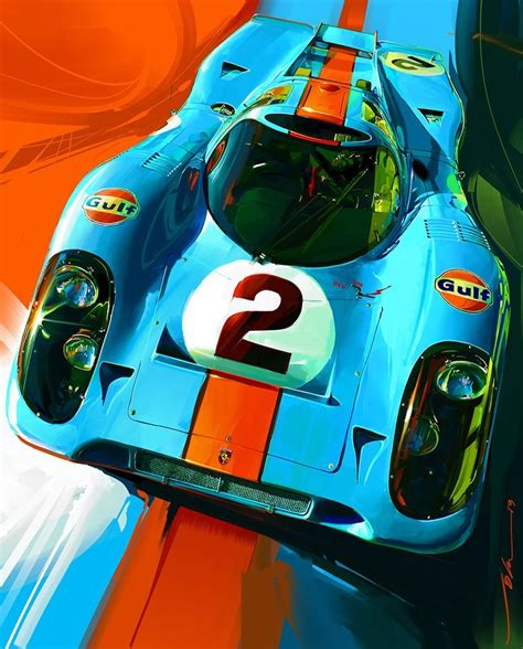 porsche 917 art john krsteski 917 gulf 2 top autos pictures and design