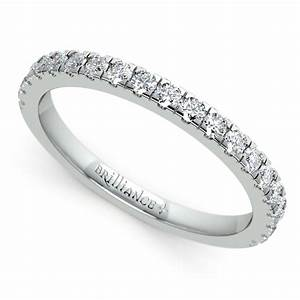 petite pave diamond wedding ring in platinum 1 3 ctw With wedding rings diamond band