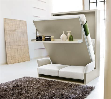 Bed And Sofa by Nuovoliola Free Standing Wall Bed With Sofa Clei