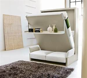 Nuovoliola free standing wall bed with sofa Clei London