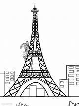 Eiffel Tower Coloring Printable Drawing Colouring Monuments Draw Cool2bkids Paris Towers Coloringme Printables Getdrawings sketch template