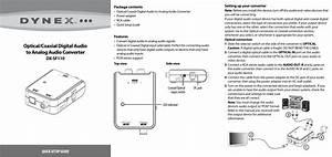 Dynex Optical Coaxial Digital Audio To Analog Converter