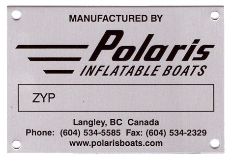 Boat Manufacturers Hull Identification Number by General Info Polaris Inflatable Boats