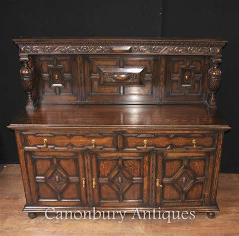 buffet kitchen furniture antique oak jacobean sideboard server buffet kitchen