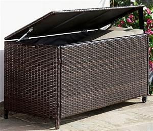 auflagenbox rattan polyrattan braun kaufen otto With französischer balkon mit garten auflagenbox wasserdicht