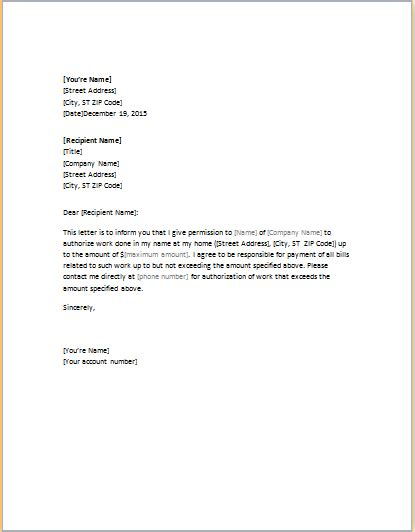 awesome sample authorization letter   format
