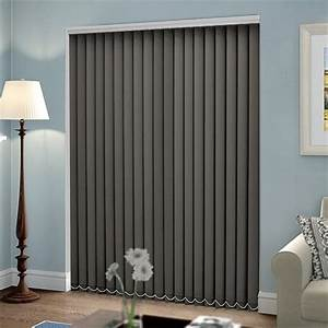 Plain Light Grey Curtains Barcelona Palisade Grey Vertical Blind