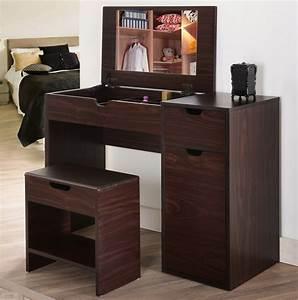 Furniture of america laurel multi storage vanity table for Bedroom vanity with storage
