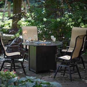 Woodard Sterling Counter Height Fire Pit Chat Set At Hayneedle