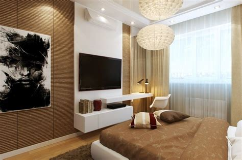 Tv In Bedroom Design Ideas by Wonderful Modern Bedroom Features Bamboo Walls Tv Wall