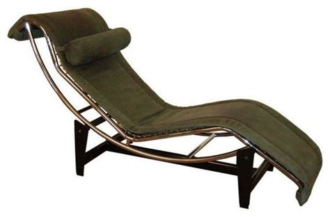 leather chaise lounge chairs indoors le corbusier lc4 green leather chaise longue modern