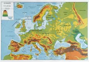 Carte Relief Europe Centrale by Vierge Carte En Relief Europe