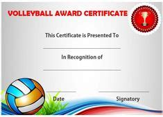 volleyball certificates  printables ideas