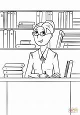 Coloring Librarian Pages Community Printable Drawing Helpers Puzzle Lena Creative sketch template