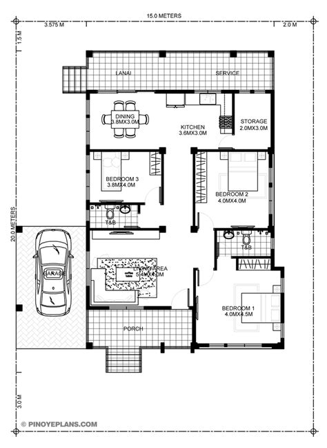 miranda elevated  bedroom   bathroom modern house pinoy eplans