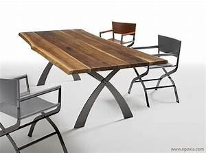 table salle a manger bois massif design table a manger With table salle a manger design