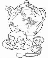 Coloring Tea Party Pages Birthday Teapot Cake Teacup Printable Adult Decorative Honkingdonkey Parties Colouring Sheets Pre Cup Google Victoria Coloringpagesfortoddlers sketch template