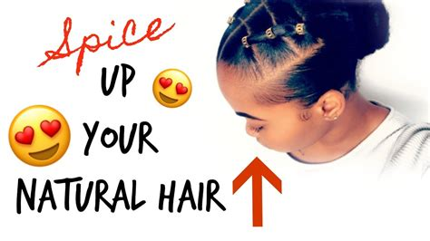 spice   natural hair trendy rubber band protective hairstyle kinzey rae