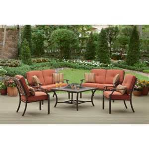 better homes and gardens sonoma falls 5 patio conversation set with pit seats 6