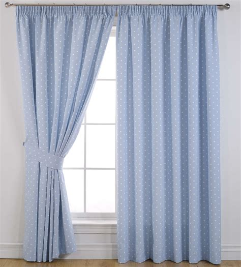 buy dotty readymade powder blue curtains at bakers