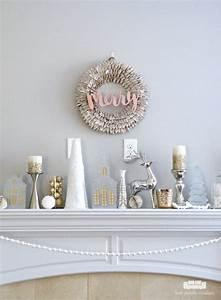 Frosted, Metallics, Christmas, Mantel, Decor