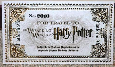 invitation   wizarding world  harry potter