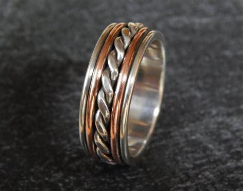 Majestic Silver & Copper Wedding Band // Men's Wedding