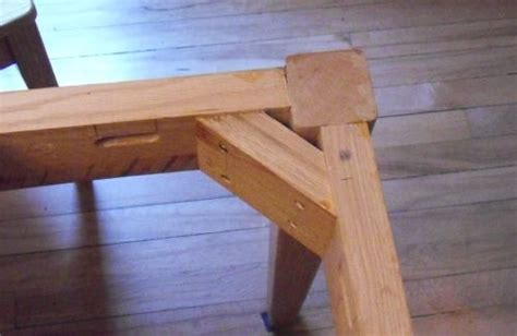 how to attach table top to legs attaching table legs with a dowel jig
