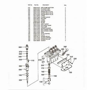 Overhaul Repair Kit For Kubota 4 Cylinder Np-pfr4md55 Injection Pumps