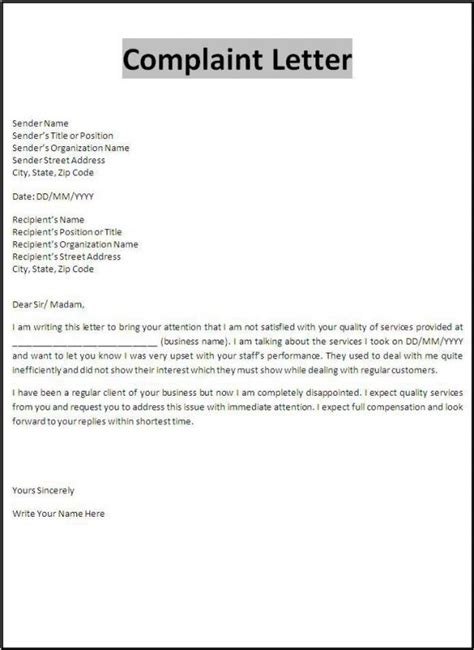 appeal letter template template business