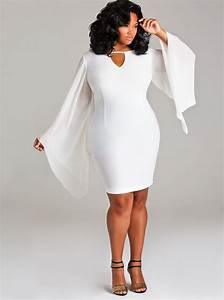White dresses plus size long - Style Jeans