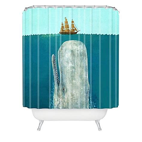 deny designs terry fan  whale shower curtain bed bath