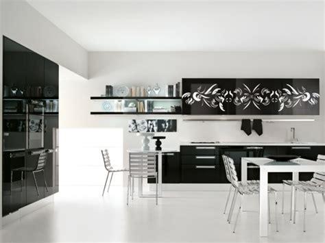 cuisine moderne noir et blanc 125 exemples de cuisines équipées ultra modernes partie 2
