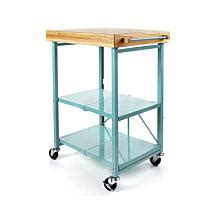 origami folding kitchen island cart with wheels kitchen food storage provided by origami hsn 9674